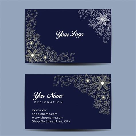 Card Template Darkroom by Blue Business Card Template Vector Free