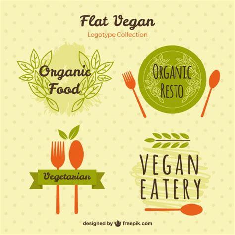 logotipos de cocina logotipos pintados a mano para comida vegetariana