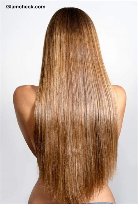 how to cut hair straight across in back v shape layered haircuts for long hair back view