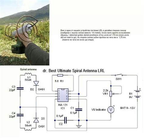 spiral antenna metal detector elektronika v roce 2019 metal detector detector de metal a