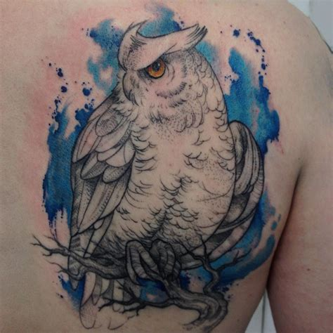 watercolor tattoo owl owl design best ideas gallery
