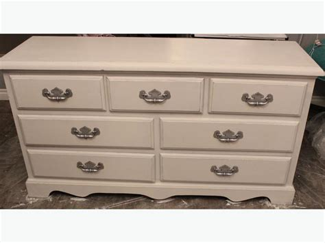 White Refinished Dresser by Refinished Dresser In Artesian White Reduced Price