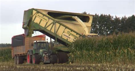 harvesting corn   krone big  cargo