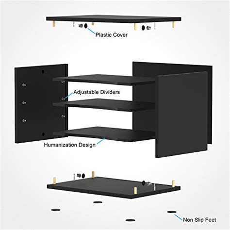 black wood desk organizer fitueyes wood desk organizer workspace organizers black
