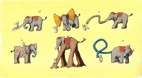 Elephant And Blind portfolio roberta angaramo illustrator illustrations for publishing
