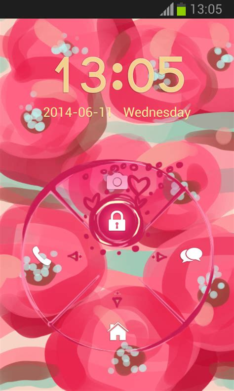 android themes pink pink flowers go locker free android theme download appraw