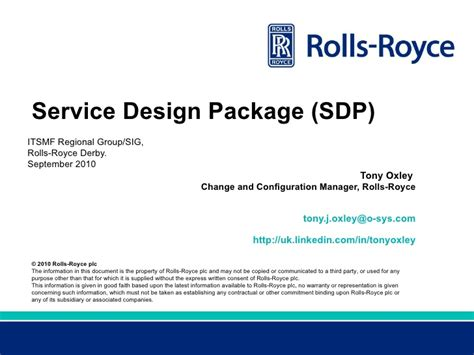 Service Design Package Vorlage Itsmf Regional Service Design Package