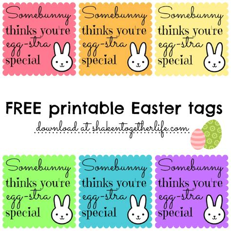 free printable easter quotes bunny lip balm gifts for easter printable tags