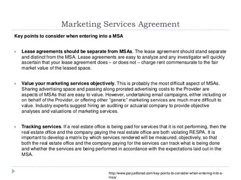 marketing services agreement template 2014 regulations and ethics while marketing to