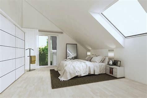 moderne schlafzimmer im dachgeschoss