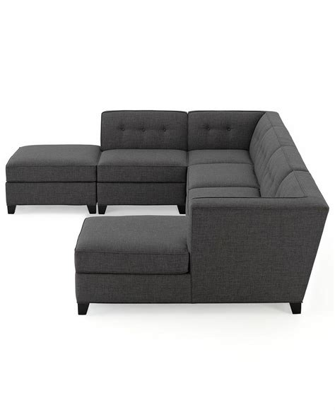 fabric modular sectional sofa 6 square