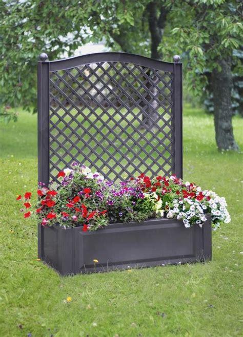 bac a en resine bac a plantes avec claustra port offert bac plante pvc pot de fleurs treillis en r 233 sine jardin