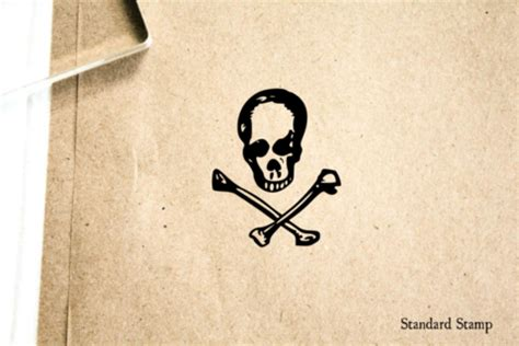 skull and crossbones rubber st pirate sts standard st