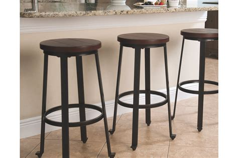 Pub Bar Stools by Signature Design By Challiman Pub Height Bar Stool