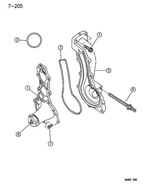 dodge dakota water pump  related parts  engine