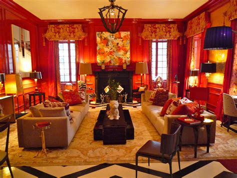 chinese  year red walls rooms  inspire