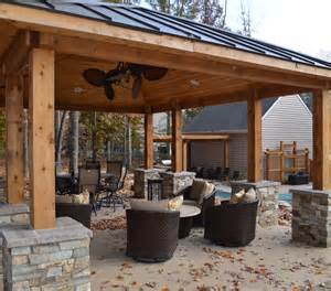 outdoor kitchen pavilion designs outdoor fireplace pavilion western cedar pavilion