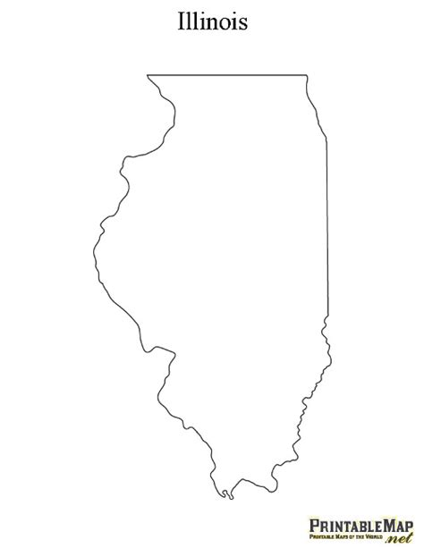 printable map illinois printable map of illinois state map of illinois