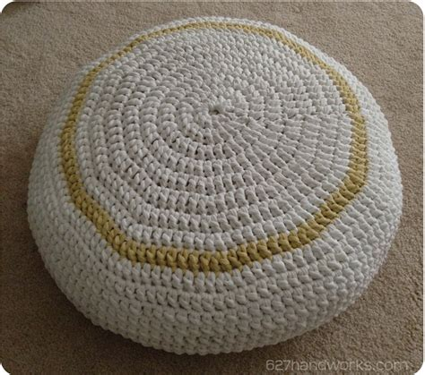crochet pattern t shirt yarn t shirt yarn crochet pouf 627handworks