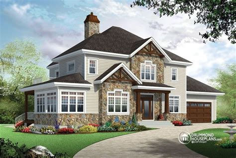 traditional two house plans 4 bedroom traditional house plan with rustic touches two