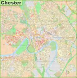 map uk chester detailed map of chester