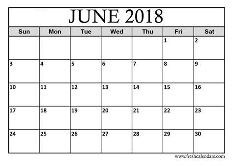 free printable blank calendar june 2018 june 2018 printable calendar templates