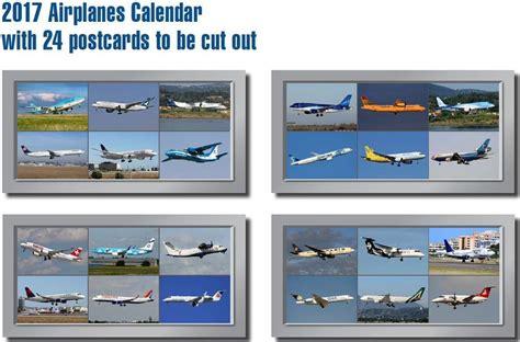 Postkarten Kalender Drucken by Jahreskalender 2017 Airplanes Flugzeuge Postkarten