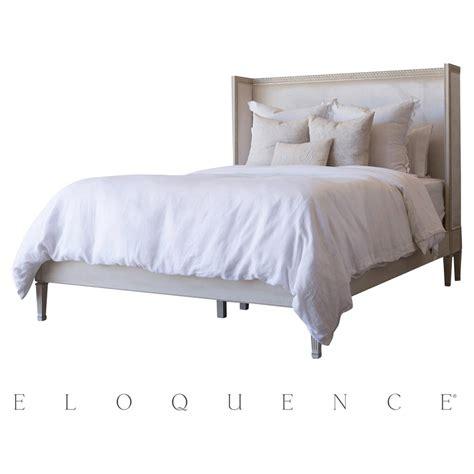 velvet queen bed eloquence antique linen cassia dove velvet queen bed