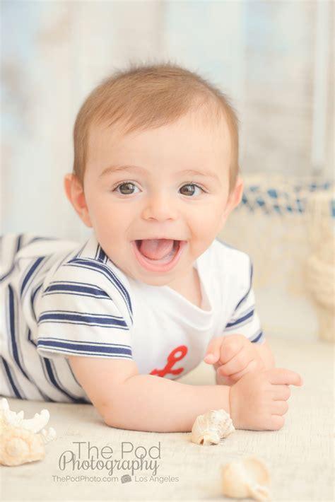smiling baby boy   Los Angeles based photo studio, The Pod