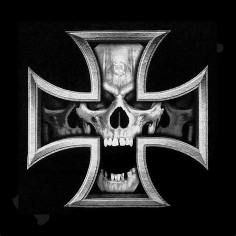 iron cross skull tattoo iron cross skull tattoos skulls crosses