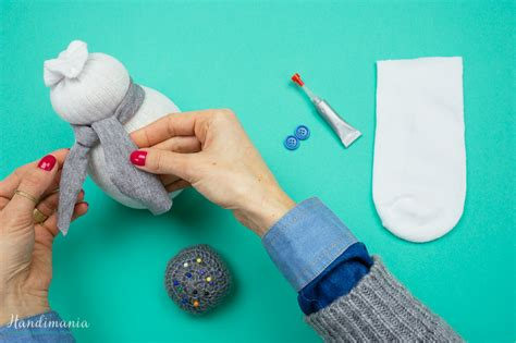sock snowman handimania how to make no sew sock snowman all steps diy crafts