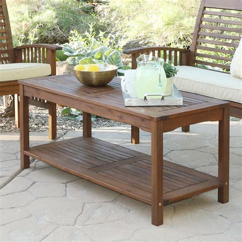 Acacia Wood Outdoor Furniture by Walker Edison Furniture Company Boardwalk Brown
