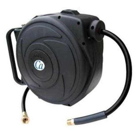 3 8 in x 50 ft retractable closed hose reel with pvc air