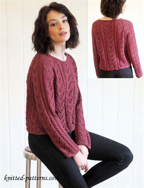 knitting pattern womens jumper free women s pullovers knitting patterns