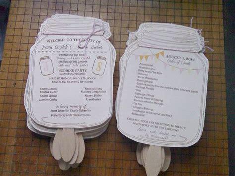 Mason Jar Wedding Programs From Neillydesign On Etsy Weddingprograms Masonjar Countrywedding Jar Wedding Program Templates