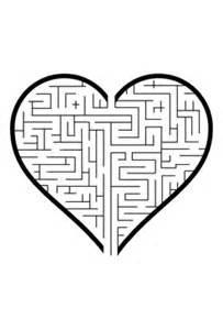 heart maze valentines puzzle printable valentine