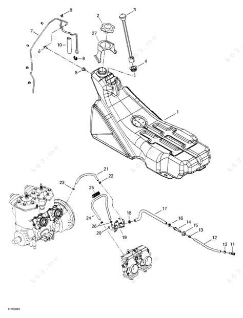 ski doo snowmobile parts diagram ski doo 2003 mx z rev 600 ho 800 007 special edition