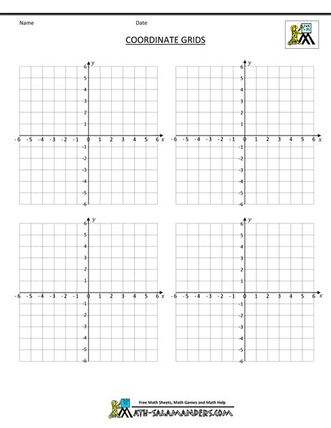 printable premade graphs coordinate plane grid
