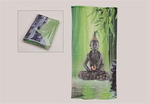 buddha vorhang kura gesch 228 ft gardine vorhang motiv buddha steingarten