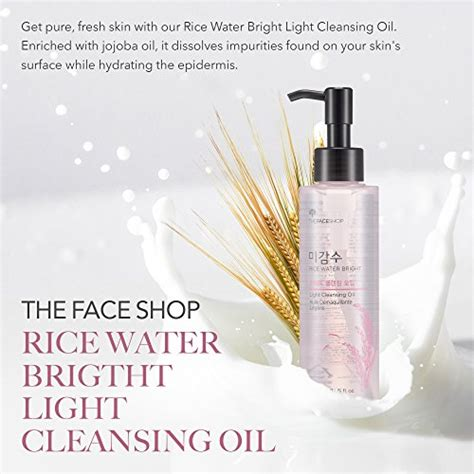 the face shop rice water bright cleansing light oil the face shop rice water bright cleansing light oil