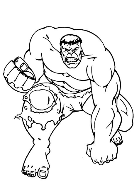 red hulk coloring pages az coloring pages
