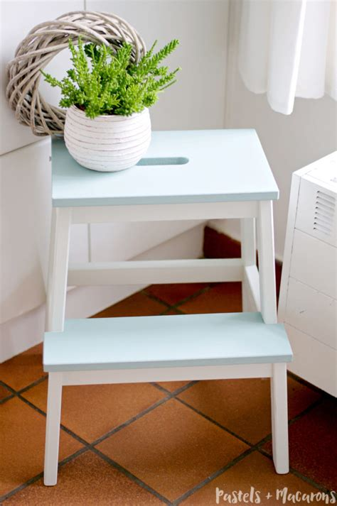 a quick and easy ikea step stool makeover about me pastels and macarons