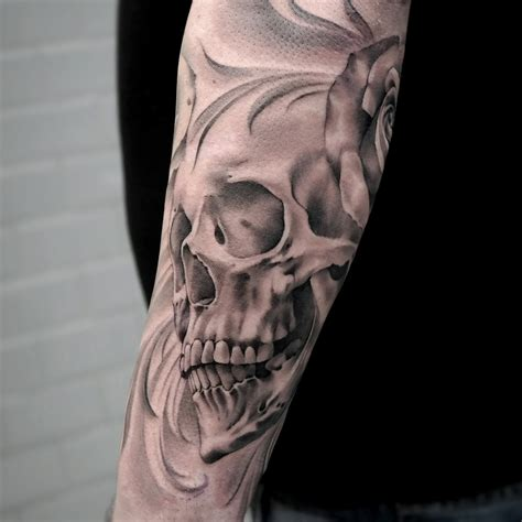 black and grey skull tattoos black and gray skull artist janissvars blackandgray