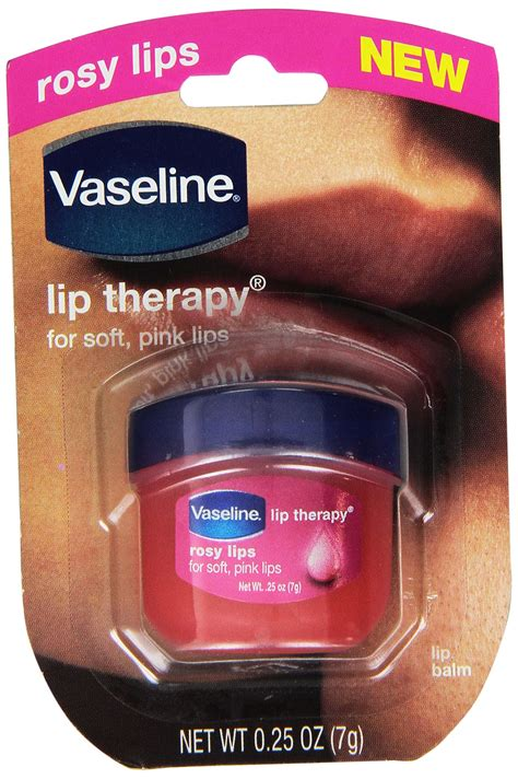 New 7 Gram Mini Vaseline Rosy Lip Therapy For Soft Pink vaseline lip therapy cocoa butter 25 oz pack of 2