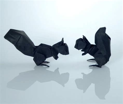 3d Origami Squirrel - 40 delightful origami designs naldz graphics