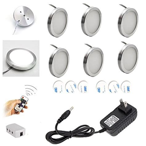 wireless cabinet lighting with remote aiboo wireless led cabinet lighting dimmer with rf