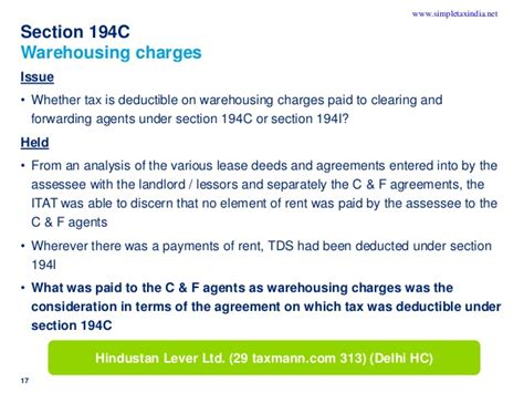 tds deduction section whether tds to be deducted on installation charges
