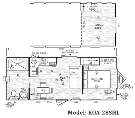 Breckenridge Park Model Floor Plans by Cavco Koa Park Model Homes From 21 000 The Finest