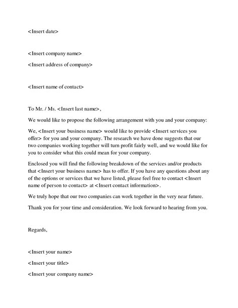 template of business proposal letter 12 business proposal sle letters word excel pdf formats