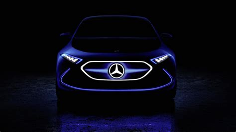 teaser car mercedes releases new eq a electric car teaser